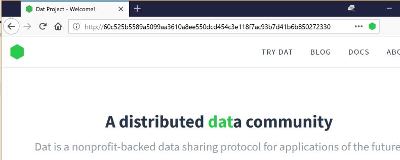 Sam Macbeth - Bringing the DAT protocol to Firefox, part 1